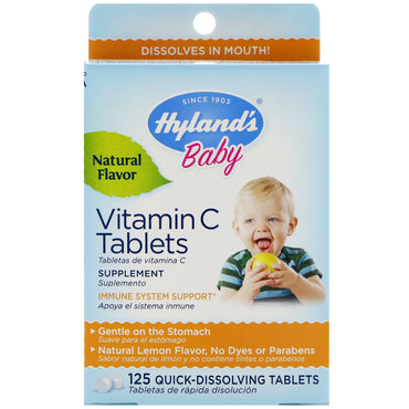Hyland's, Baby, Vitamin C Tablets, Natural Lemon Flavor, 125 Quick-Dissolving Tablets
