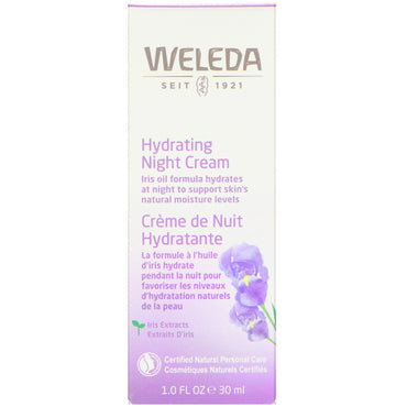 Weleda, Hydrating Night Cream, Iris Extracts, Normal or Dry Skin, 1.0 fl oz (30 ml)