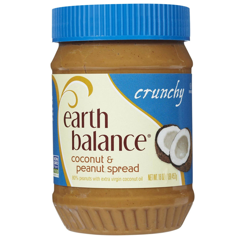 Earth Balance, Coconut & Peanut Spread, Crunchy, 16 oz (453 g)