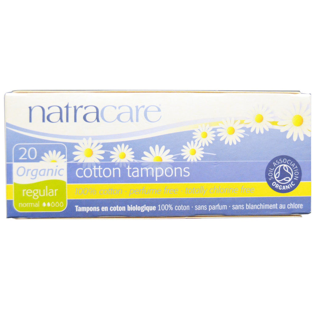 Natracare, Organic Cotton Tampons, Regular, 20 Tampons
