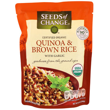 Seeds of Change, Organic, Quinoa & Brown Rice, With Garlic, 8.5 oz (240 g)