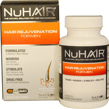 Natrol NuHair Hair Rejuvenation for Men 60 Tablets