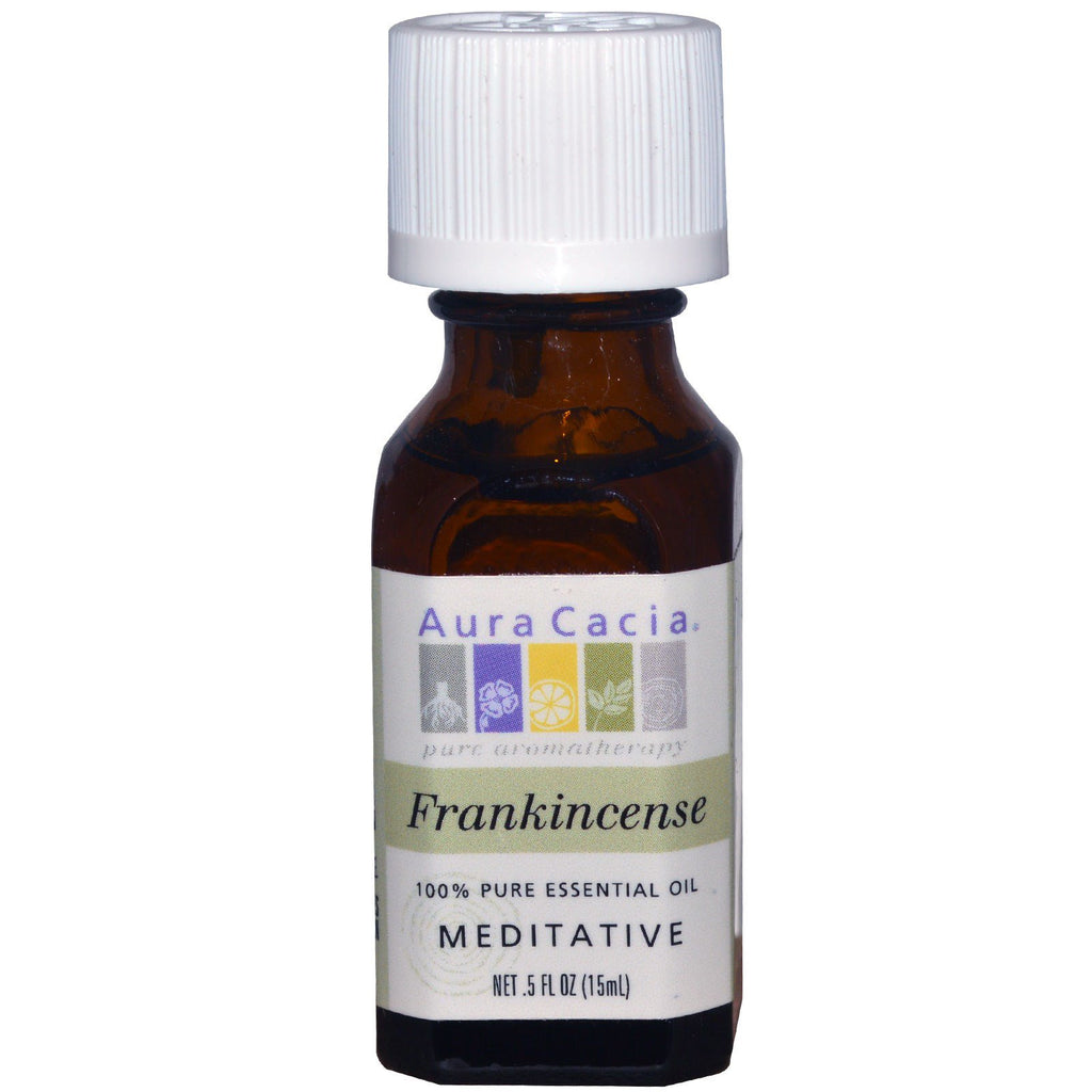 Aura Cacia, 100% Pure Essential Oil, Frankincense, Meditative, .5 fl oz (15 ml)