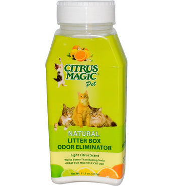 Citrus Magic, Natural, Litter Box Odor Eliminator, Light Citrus Scent, 11.2 oz (317 g)