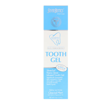 American Biotech Labs, Silver Biotics, Tooth Gel, Glacial Mint, 4 oz (114 g)