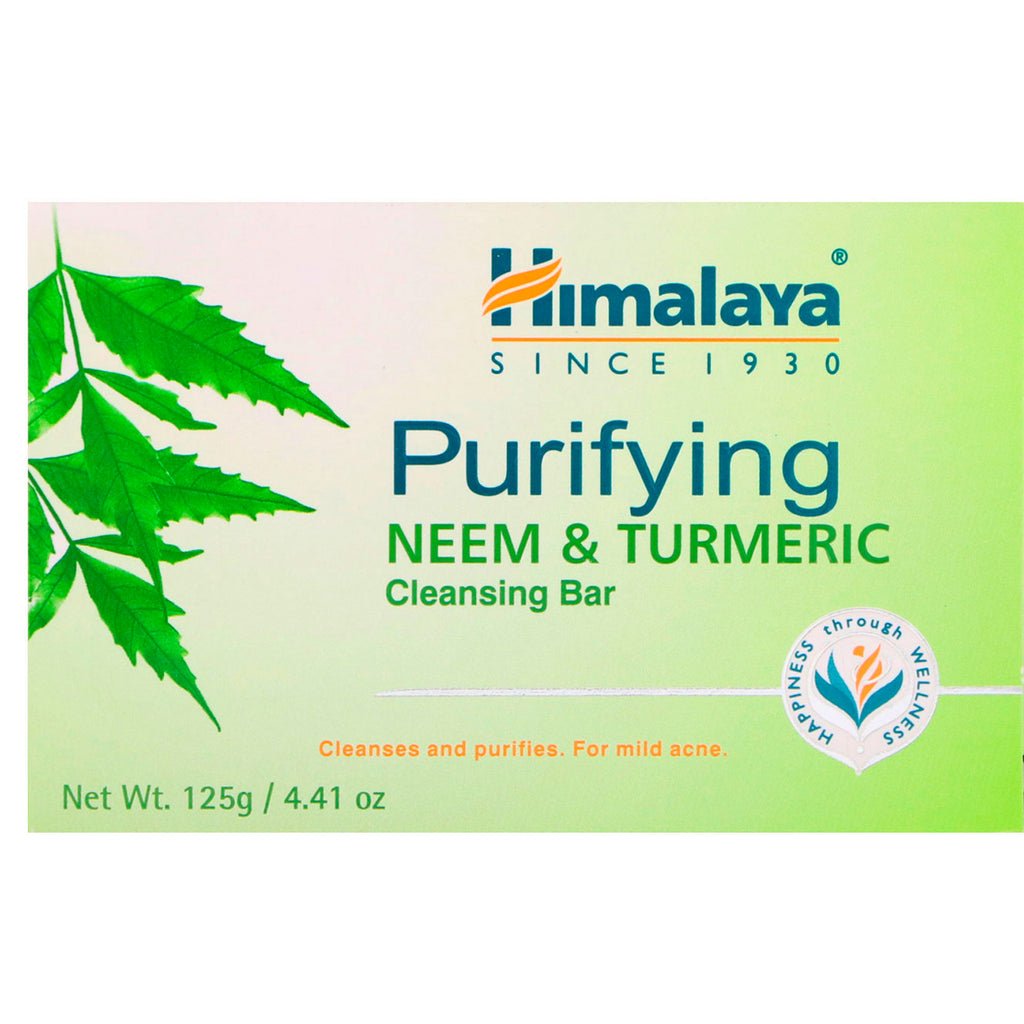 Himalaya, Purifying Cleansing Bar, Neem & Turmeric, 4.41 oz (125 g)