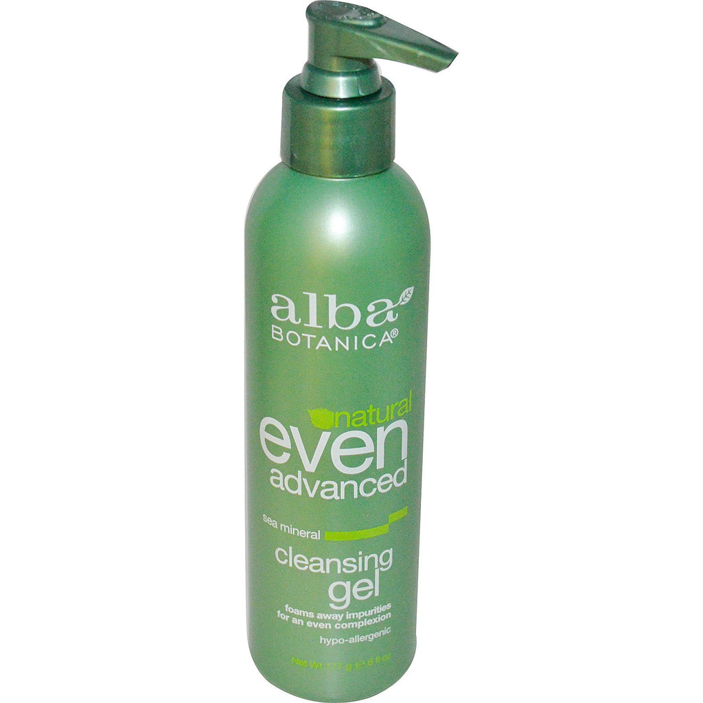 Alba Botanica, Even Advanced, Cleansing Gel, Sea Mineral, 6 fl oz (177 ml)