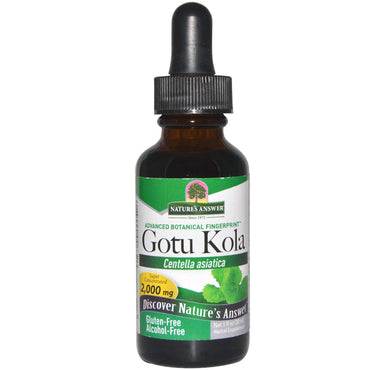 Nature's Answer, Gotu Kola, Alcohol-Free, 1 fl oz (30 ml)