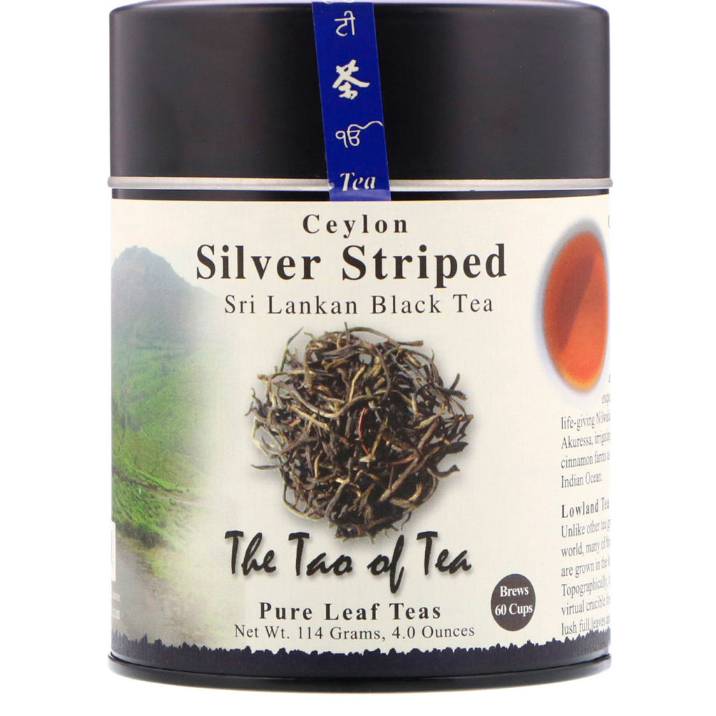 The Tao of Tea, Sri Lankan Black Tea, Ceylon Silver Striped, 4.0 oz (114 g)