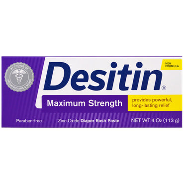 Desitin, Diaper Rash Paste, Maximum Strength, 4 oz (113 g)