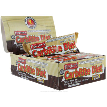 Universal Nutrition Doctor's CarbRite Diet Sugar Free Cookie Dough 12 Bars 2 oz (56.7 g) Each
