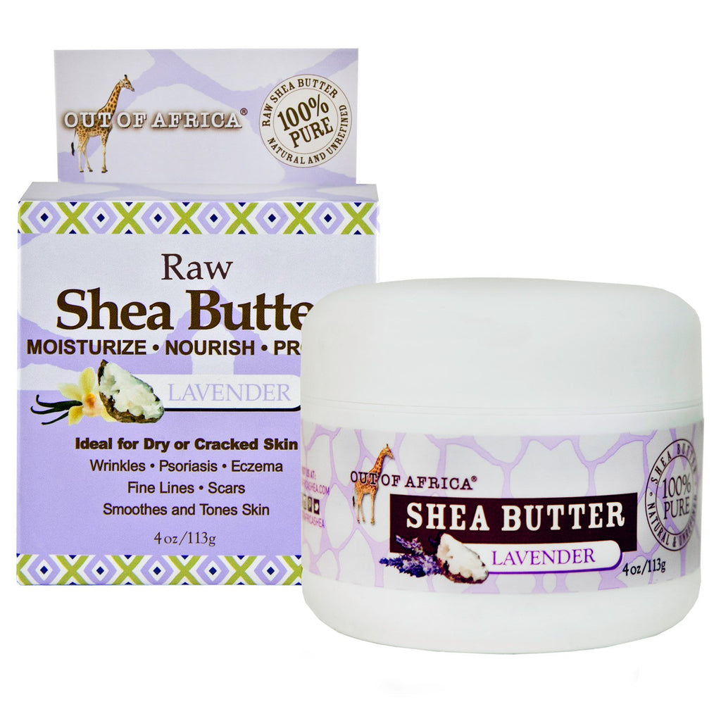 Out of Africa Pure Shea Butter Lavender 4 oz (113 g)