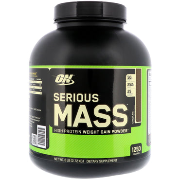Optimum Nutrition, Serious Mass, Chocolate, 6 lbs (2.72 kg)