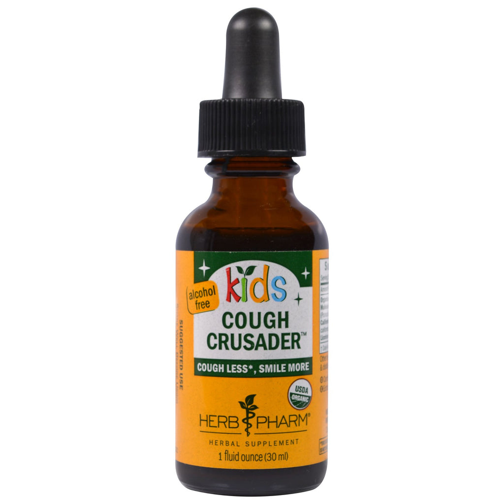 Herb Pharm, Organic Kids Cough Crusader, Alcohol Free, 1 fl oz (30 ml)