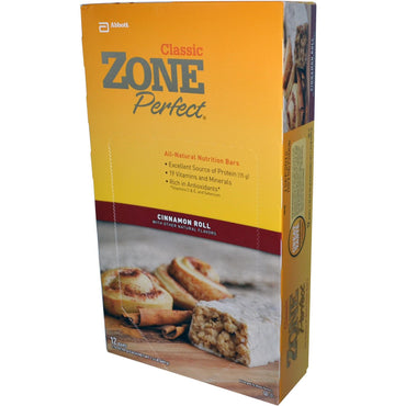 ZonePerfect Classic All-Natural Nutrition Bars Cinnamon Roll 12 Bars 1.76 oz (50 g) Each