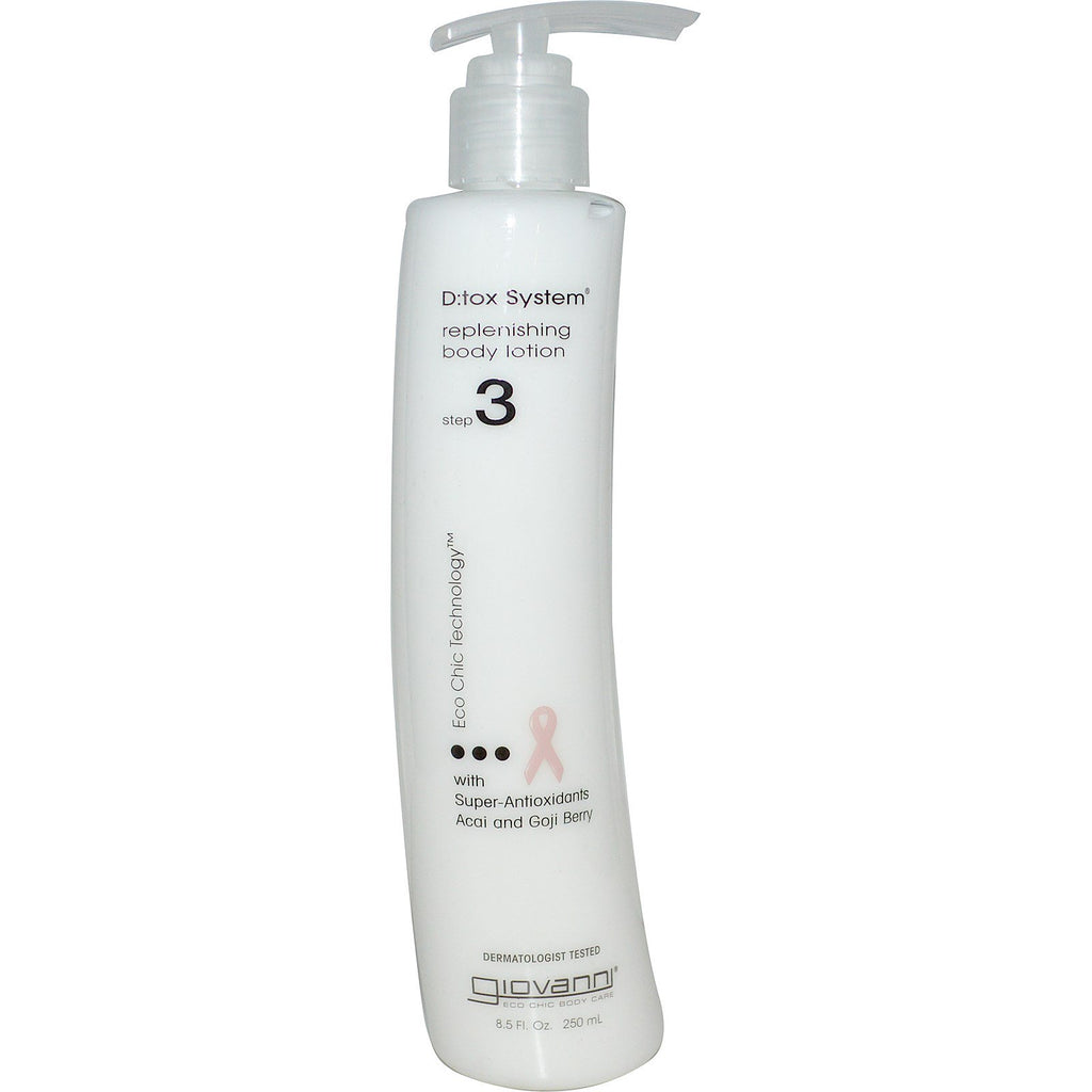 Giovanni, D:tox System, Replenishing Body Lotion, Step 3, 8.5 fl oz (250 ml)