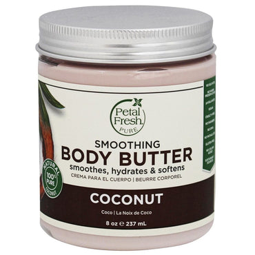 Petal Fresh, Pure, Body Butter, Ultra Moisturizing, Coconut, 8 oz (237 ml)