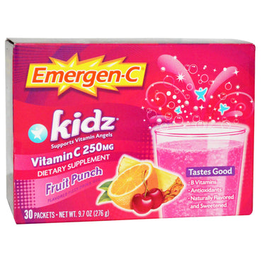 Emergen-C Kidz Fruit Punch 30 Packets 9.7 oz (276 g)