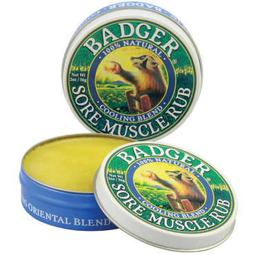 Badger Company, Sore Muscle Rub, Cooling Blend, 2 oz (56 g)