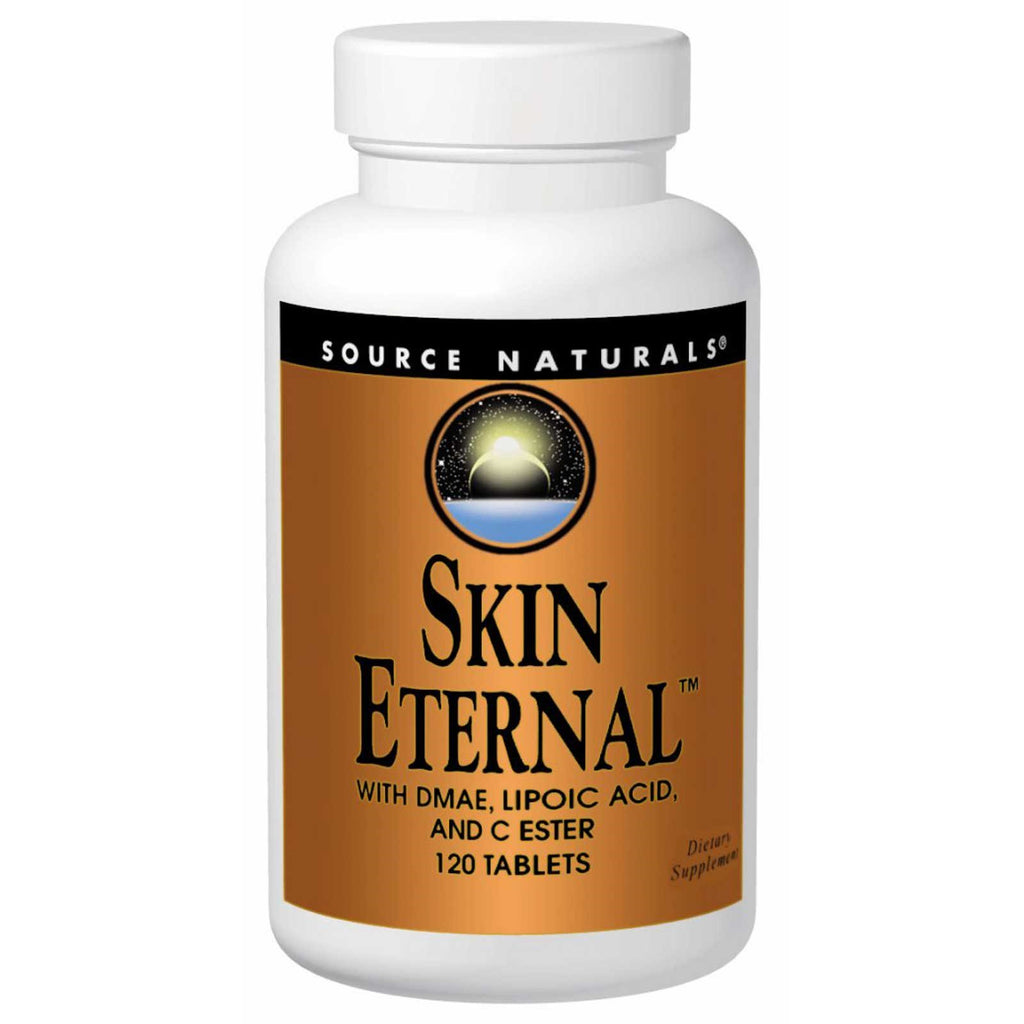 Source Naturals Skin Eternal with DMAE Lipoic Acid and C Ester 120 Tablets