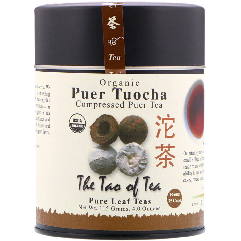 The Tao of Tea, Organic Compressed Puer Tea, Puer Tuocha, 4.0 oz (115 g)