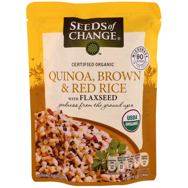 Seeds of Change, Organic, Quinoa, Brown & Red Rice with Flaxseed, 8.5 oz (240 g)