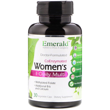 Emerald Laboratories, CoEnzymated Women's 1-Daily Multi, 30 Vegetable Caps