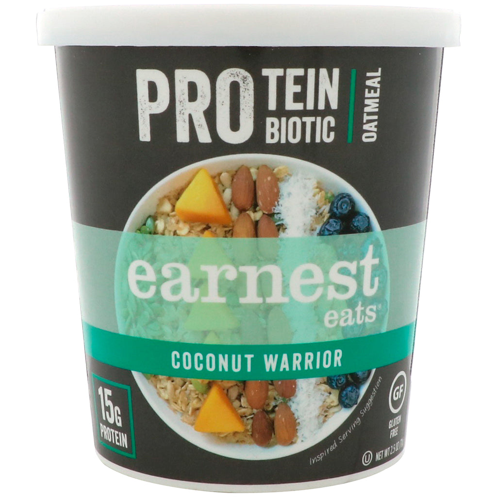 Earnest Eats Protein Probiotic Oatmeal Coconut Warrior 2.5 oz (71 g)