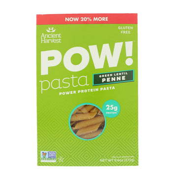 Ancient Harvest Pow! Pasta Green Lentil Penne 9.6 oz (272 g)
