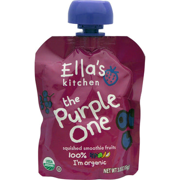 Ella's Kitchen The Purple One Squished Smoothie Fruits 3.0 oz (85 g)