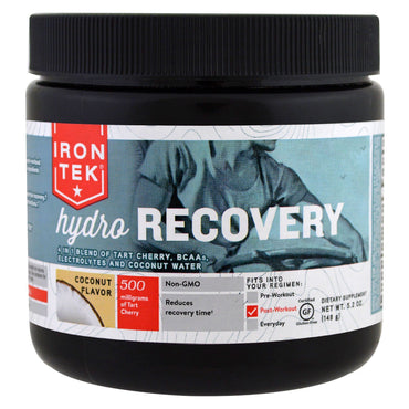 Country Life, Iron Tek Hydro Recovery, Coconut Flavor, 5.2 oz (148 g)