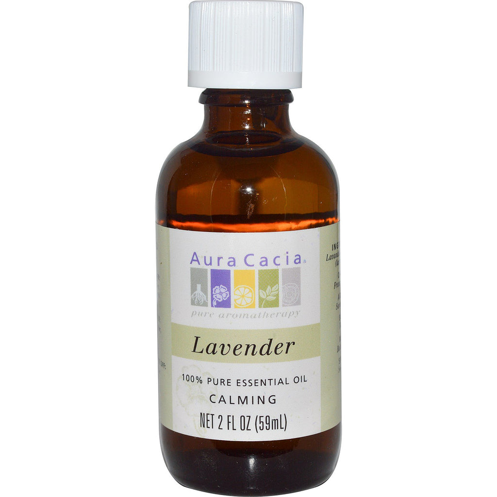 Aura Cacia, 100% Pure Essential Oil, Lavender, 2 fl oz (59 ml)