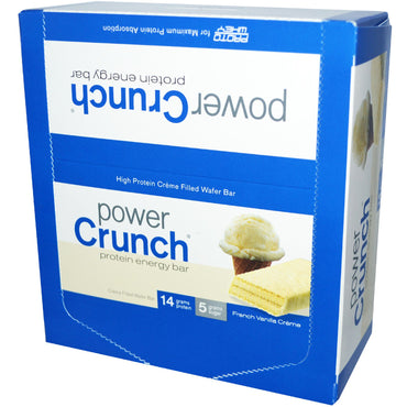 BNRG Power Crunch Protein Energy Bar French Vanilla Creme 12 Bars 1.4 oz (40 g) Each