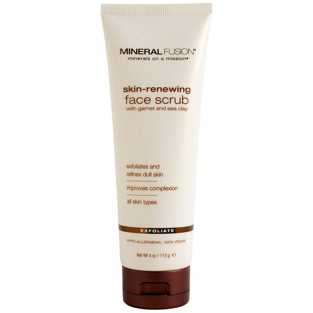 Mineral Fusion, Skin-Renewing Face Scrub, 4 oz (113 g)