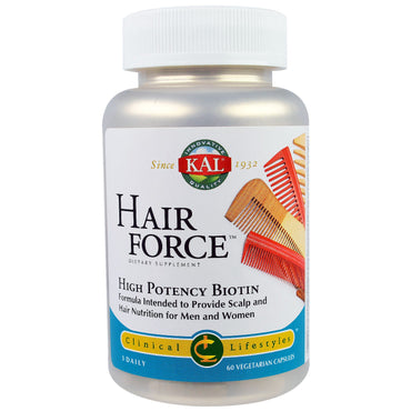 KAL Hair Force High Potency Biotin 60 Veggie Caps