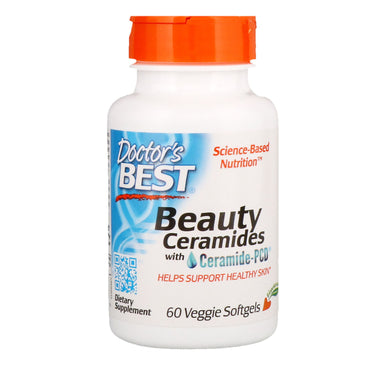 Doctor's Best Beauty Ceramides with Ceramide-PCD 60 Veggie Softgels