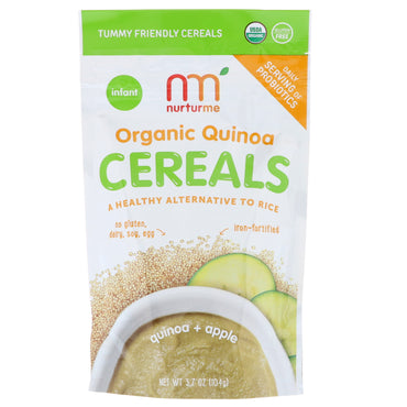 NurturMe Organic Quinoa Cereal Quinoa + Apple Infant 3.7 oz (104 g)
