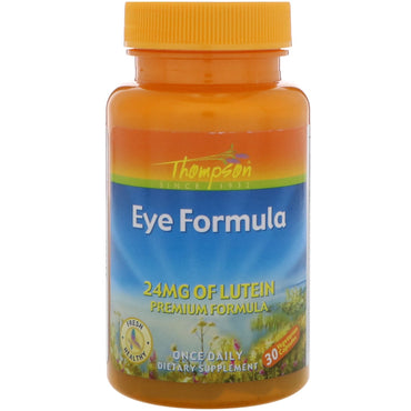 Thompson, Eye Formula, 30 Vegetarian Capsules