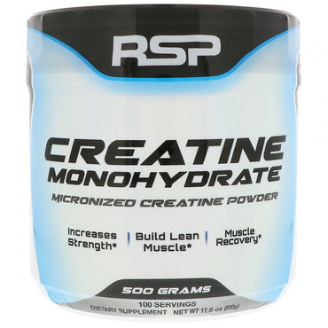RSP Nutrition, Creatine Monohydrate, Micronized Creatine Powder, 17.6 oz (500 g)