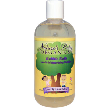 Nature's Baby Organics Bubble Bath Gentle Moisturizing Bubbles Lovely Lavender 12 fl oz (355 ml)
