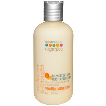 Nature's Baby Organics, Conditioner & Detangler, Vanilla Tangerine, 8 fl oz (236.5 ml)