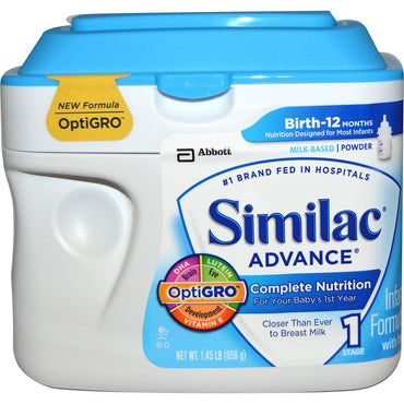 Similac, Advance, Infant Formula with Iron, Stage 1, 1.45 lb (658 g)