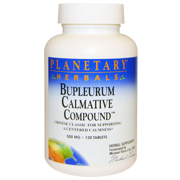 Planetary Herbals, Bupleurum Calmative Compound, 550 mg, 120 Tablets