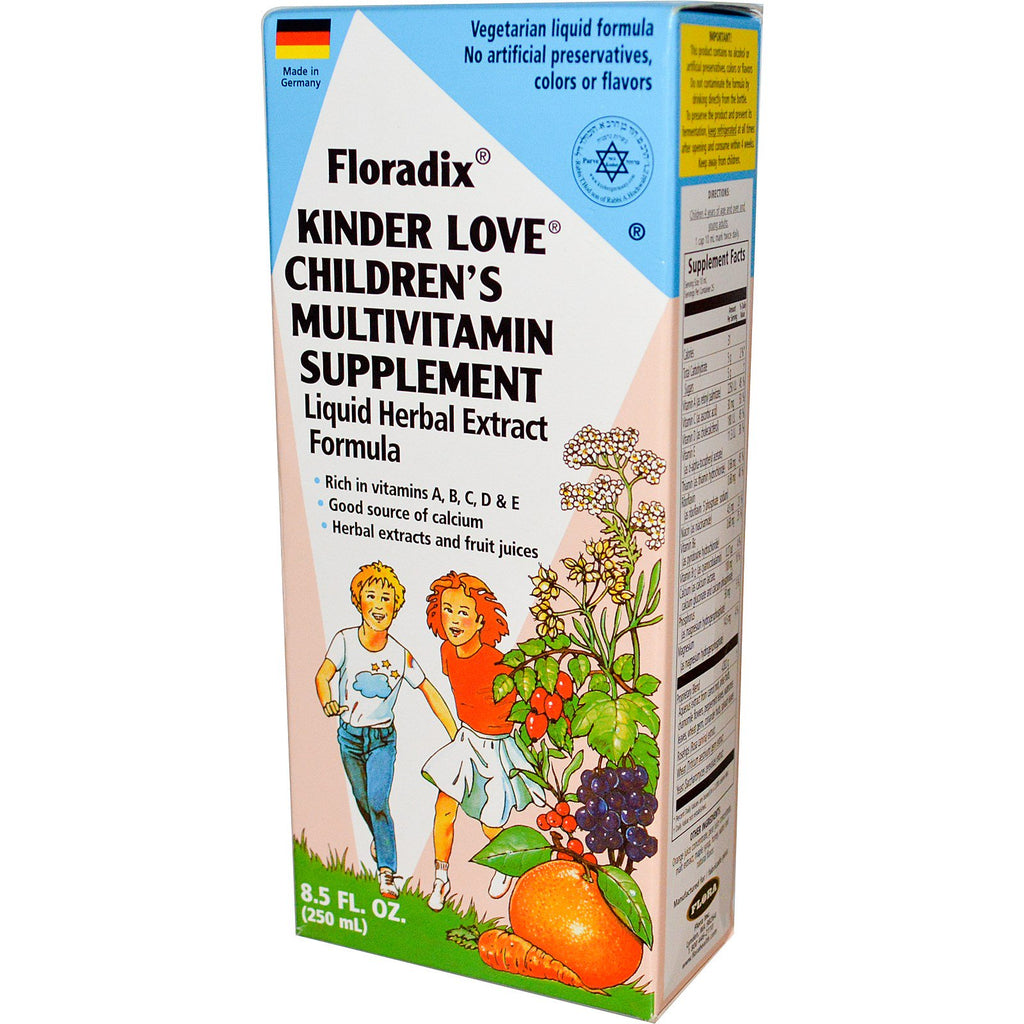 Flora, Floradix, Kinder Love, Children's Multivitamin Supplement, 8.5 fl oz (250 ml)