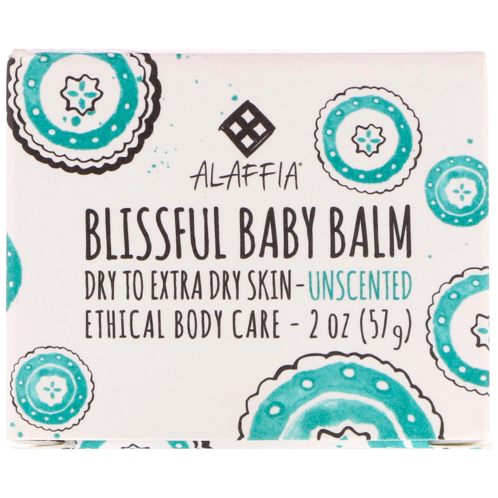 Alaffia, Blissful Baby Balm, Dry to Extra Dry Skin, Unscented, 2 oz (57 g)