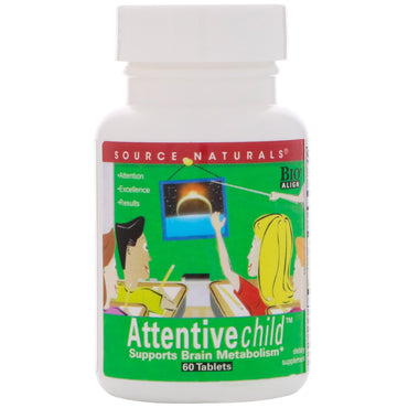 Source Naturals, Attentive Child, 60 Tablets