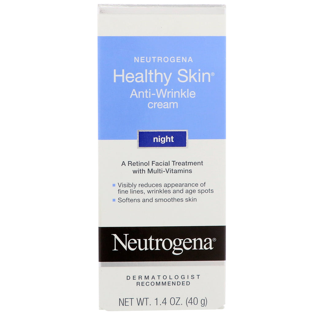 Neutrogena, Healthy Skin, Anti-Wrinkle Cream, Night, 1.4 oz (40 g)