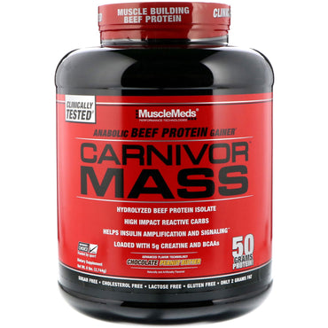 MuscleMeds, Carnivor Mass, Chocolate Peanut Butter, 6 lbs (2,744 g)