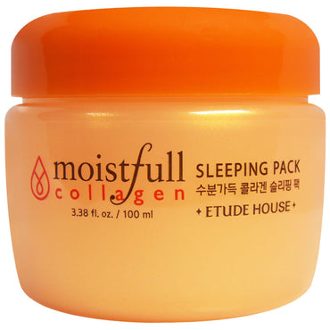 Etude House, Moistfull Collagen Sleeping Pack, 3.38 fl oz (100 ml)