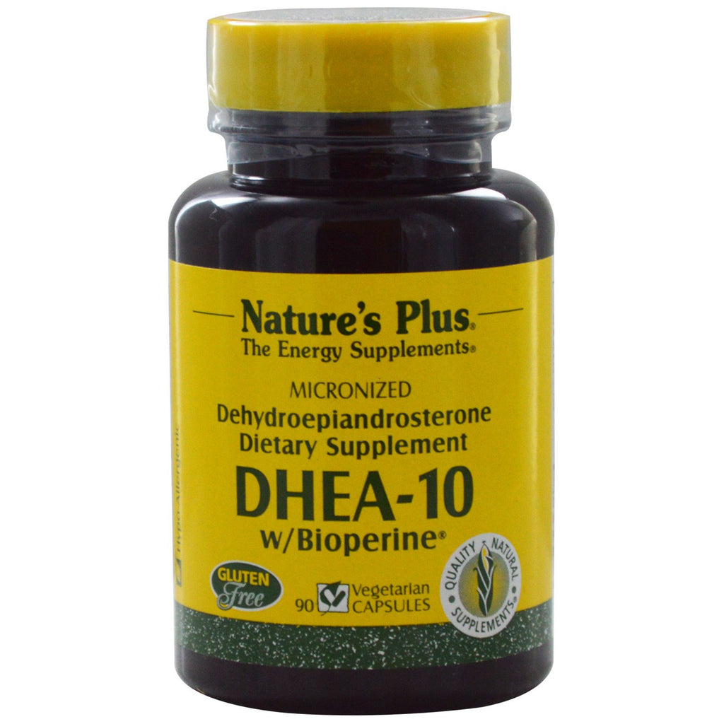 Nature's Plus, DHEA-10 With Bioperine, 90 Veggie Caps